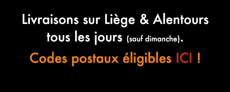Livraison sur Liège & Alentours